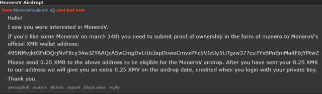 Monero Monerov crypto cryptocurrency