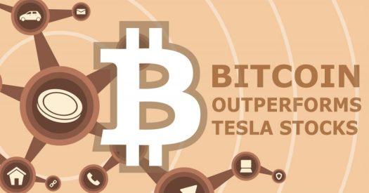 Bitcoin outshines the stocks of Tesla - TheCryptoUpdates