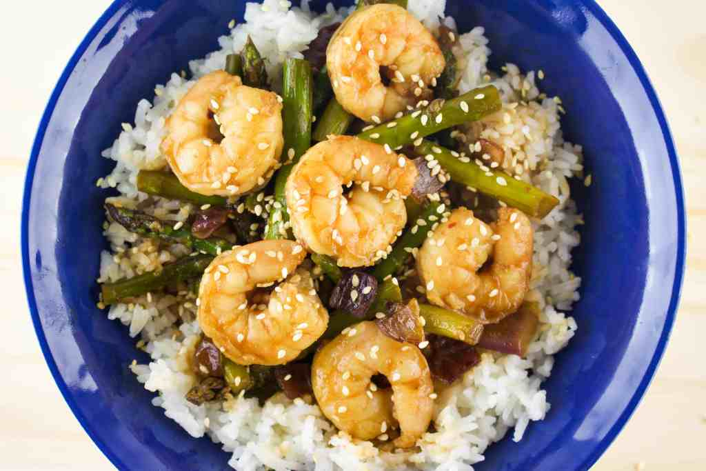 Teriyaki Shrimp and Asparagus - The Culinary Compass