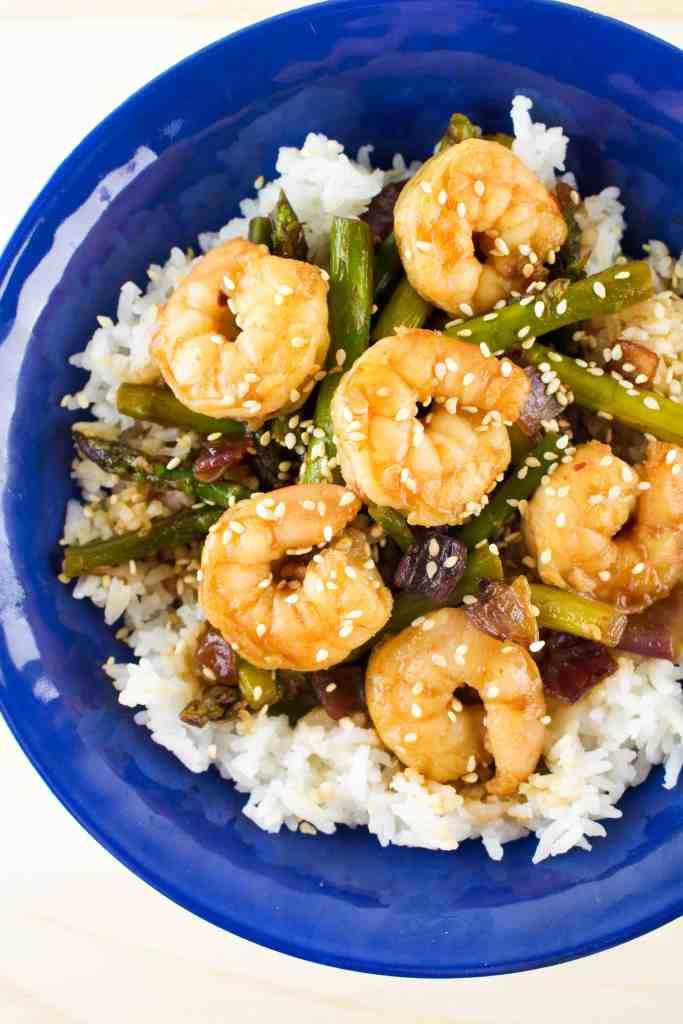 Teriyaki Shrimp and Asparagus - The Culinary Compass