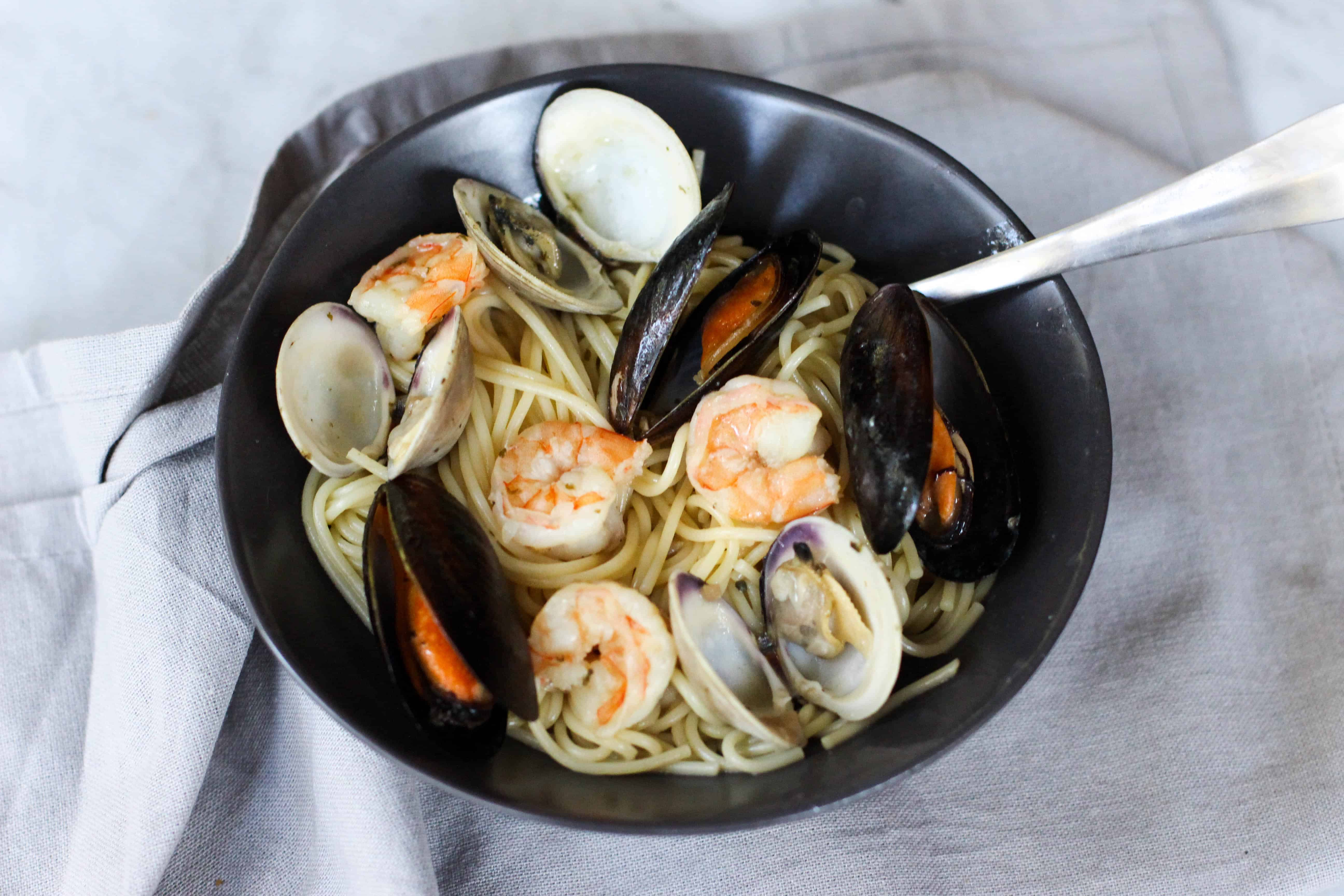 Easy Seafood Pasta With White Wine Butter Sauce The Culinary Compass