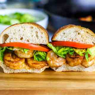 These Skinny Shrimp Po Boys are a lightened up and easy version of the classic!