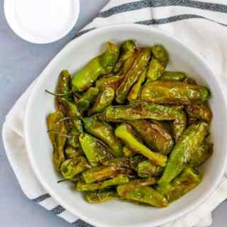 These Easy Shishito Peppers are so quick to make and the perfect snack for anytime.