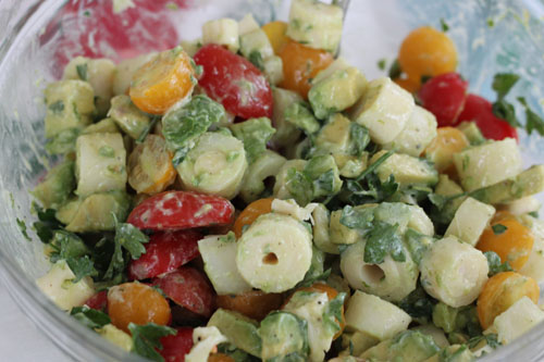 hearts of palm avocado salad