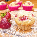 Healthier Muffins with Strawberries and Greek Yoghurt