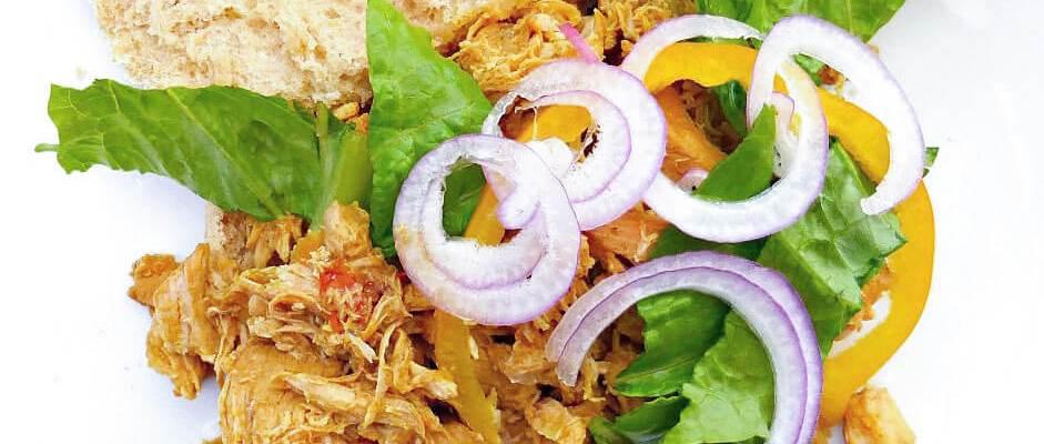 Healthy, Simple Tandoori-inspired Crockpot Pulled Chicken