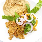Tandoori-inspired Crockpot Pulled Chicken