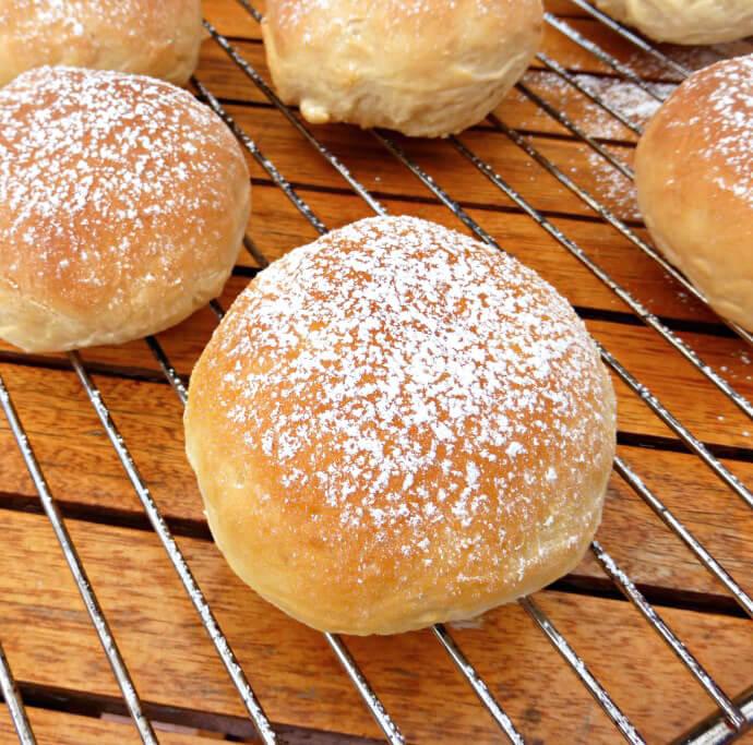 Homemade Sweet Tropical Coconut Bread Rolls