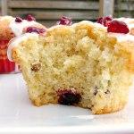 Cranberry and Pistachio Vanilla Muffins