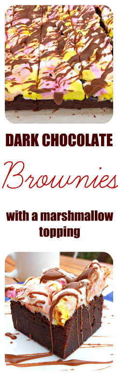 Dark Chocolate Brownie with a Marshmallow Topping