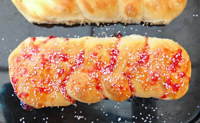 Strawberry and Vanilla Overnight Braid Loaf