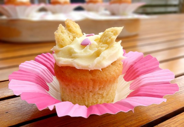 Butterfly Cakes with Cream Cheese Frosting & Strawberry Jam