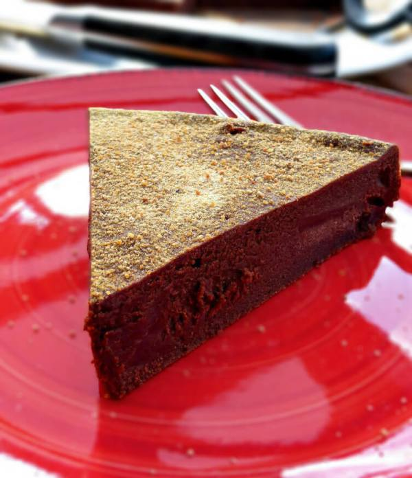 Healthier Dark Chocolate Swedish Kladdkaka (Gluten Free)