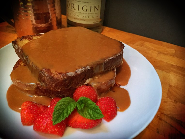 Boozy Salted Caramel French Toast