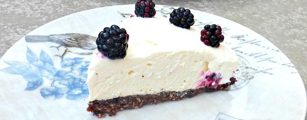 Wild Blackberry and Mascarpone Cream Pie (Gluten Free)