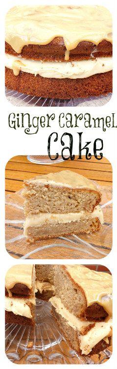 Ginger and Caramel Cake with a Caramel Glaze