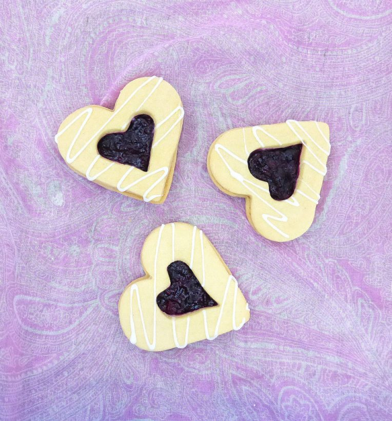 Buttery Shortbread Cookies filled with Homemade Berry Jam