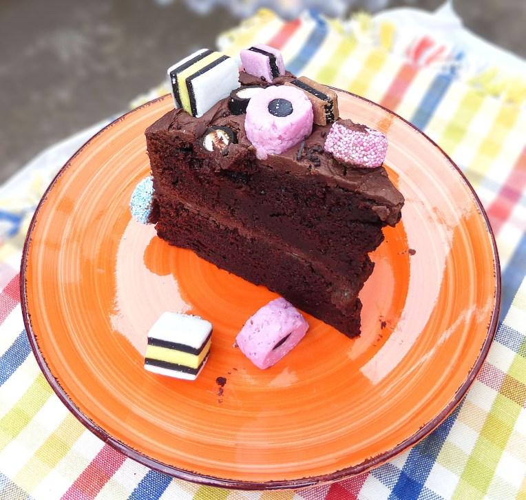 Liquorice Allsorts Cake (with Chocolate Fudge Frosting)