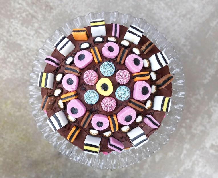 Liquorice Allsorts Celebration Chocolate Fudge Cake