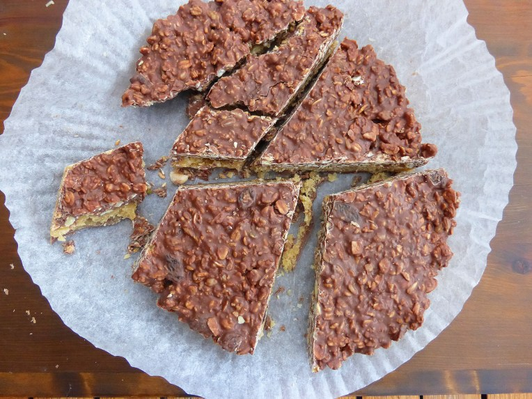Chocolate Granola and Soft Toffee Slice