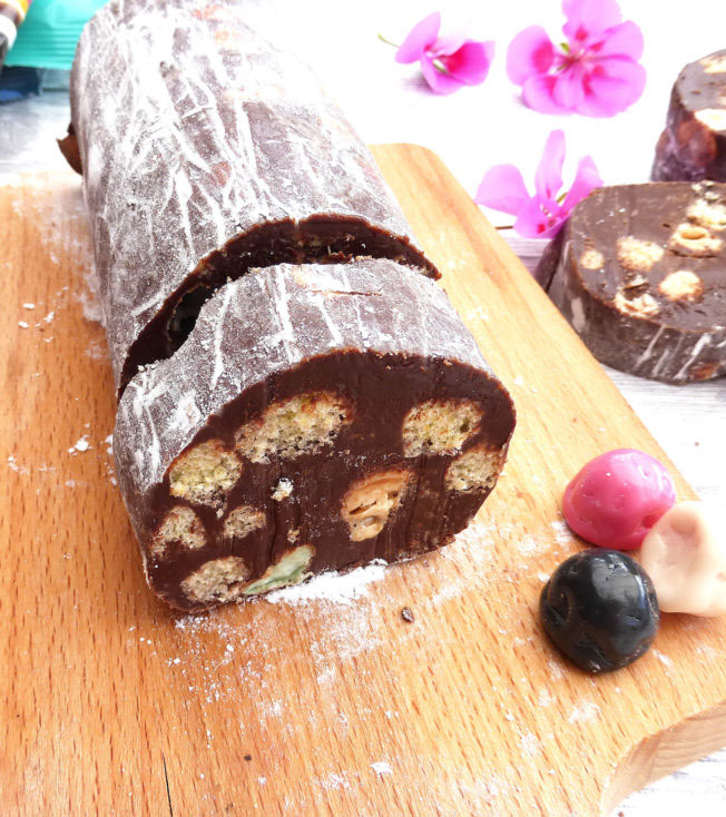 Chocolate Salami (simple, no bake dessert)