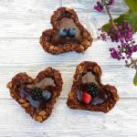 Gluten Free Chocolate Oat Cookie Cups with Chocolate Ganache Filling