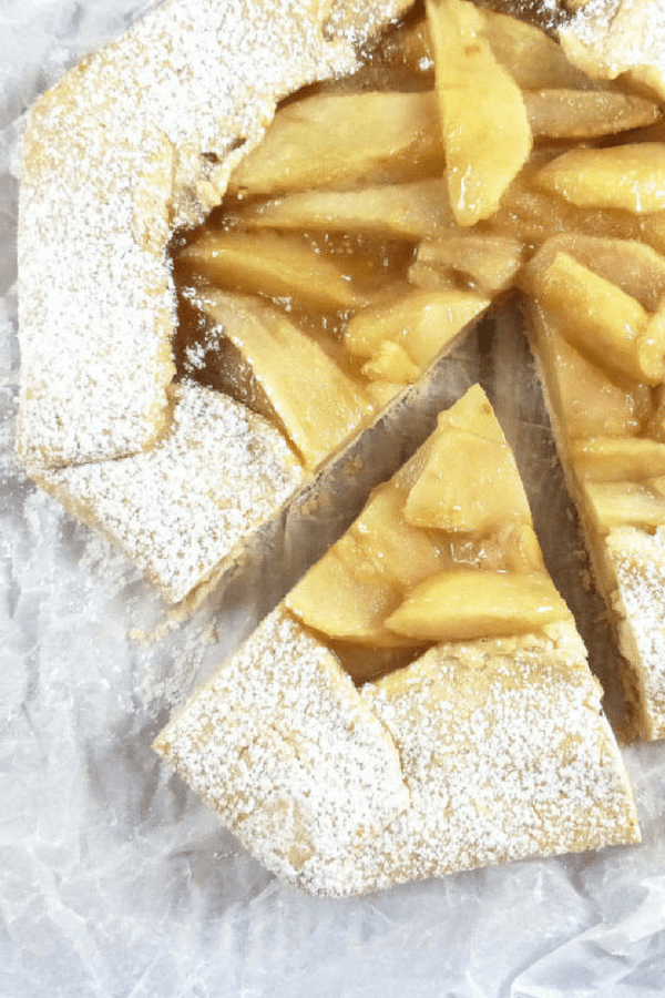 Gluten Free Galette with Pears in Caramel Sauce