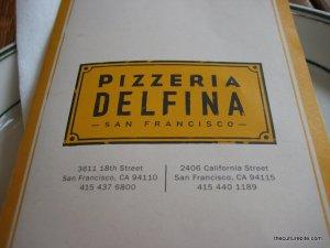 Pizzeria Delfina Menu