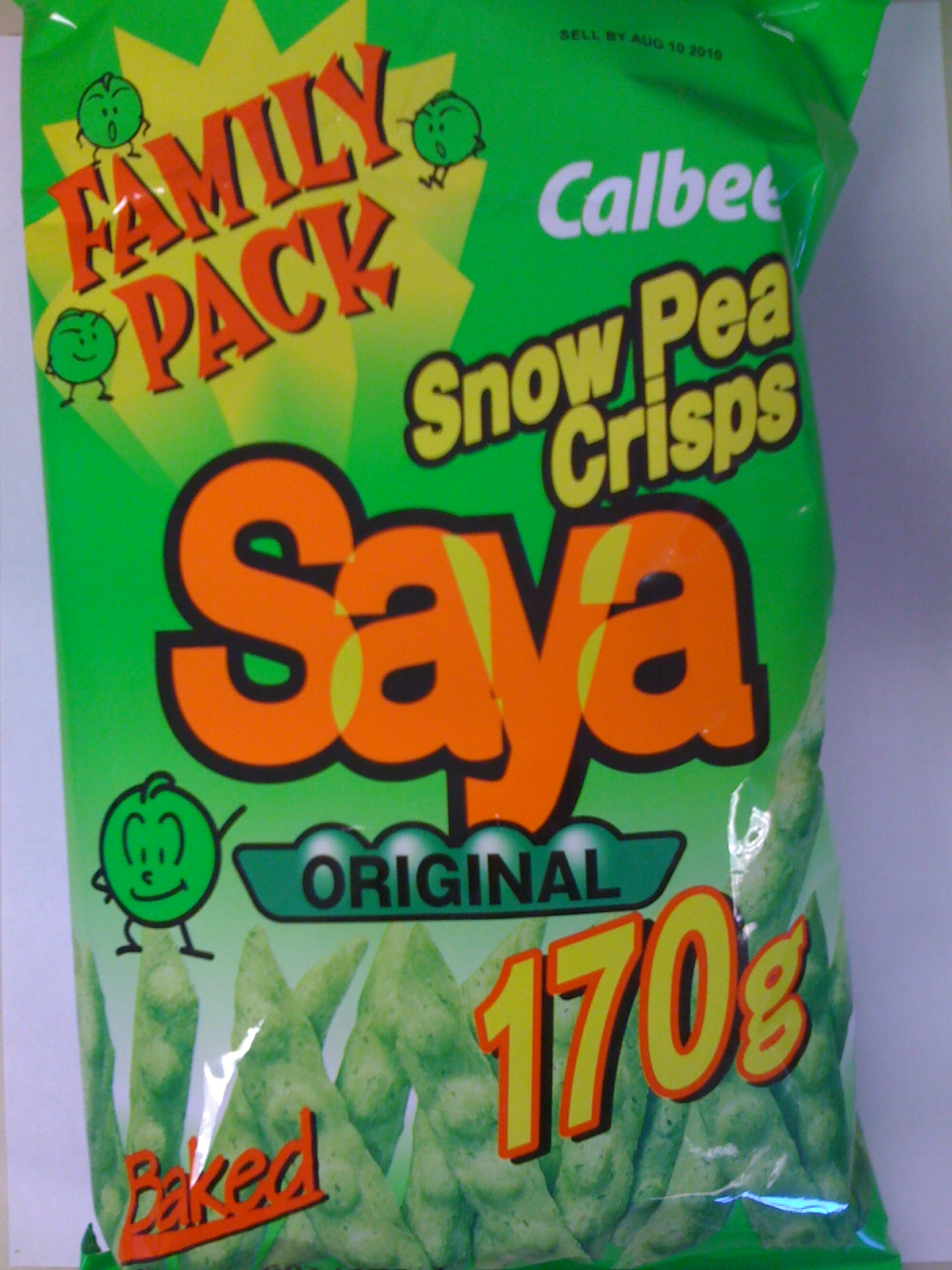 Saya snow pea crisps
