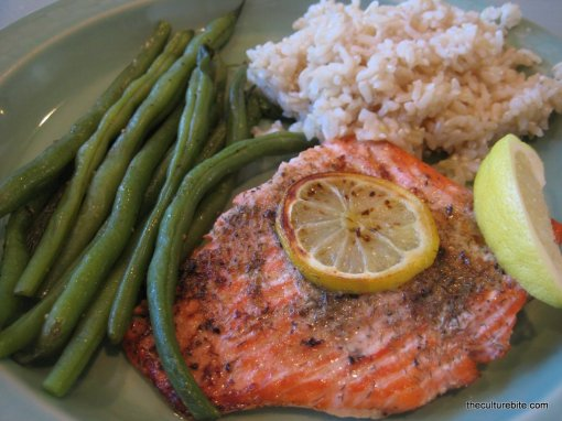 Dad Kitchen Salmon Plate