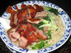 Mr Fong BBQ Combo with House Made Noodles