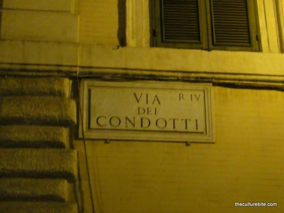 Rome Via dei Condotti