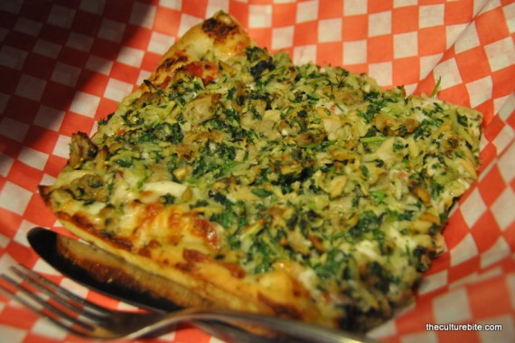 Golden Boy Pizza Garlic Clam