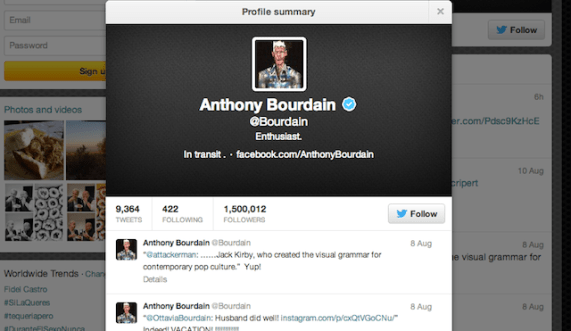 Anthony Bourdain Twitter 118 Twitter Feeds for Food Lovers to Follow