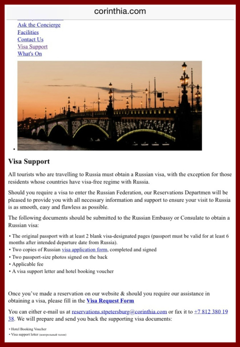 Russian Tourist Visa Support Letter - Tourism Company and