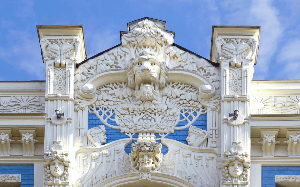 Where to find Art Nouveau architecture in Riga, Latvia
