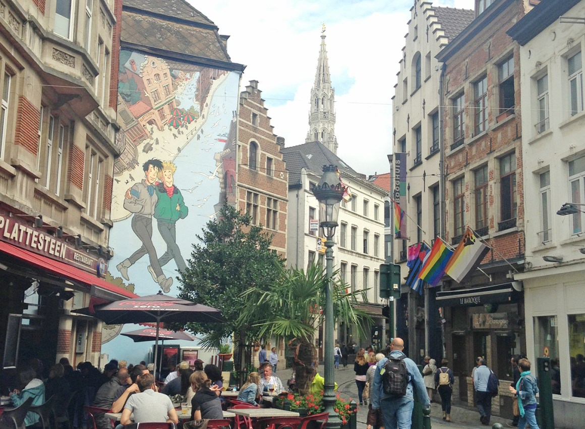 Broussaille, Comic wall mural in Brussels