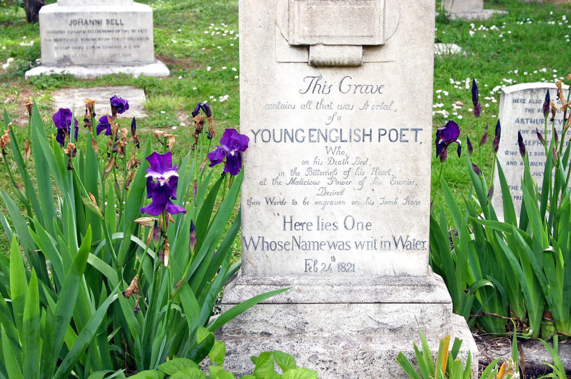Keats' grave - quirky and unusual things to do in Rome