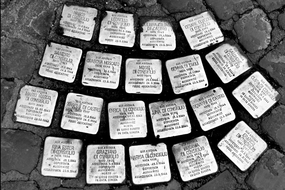 Stolpersteine, stumbling stones - unusual things to see and do in Rome