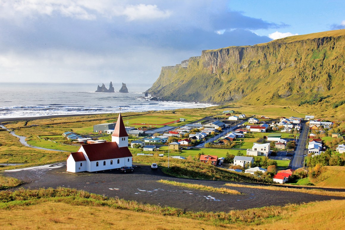 Vik, Iceland - colourful towns and cities in Scandinavia