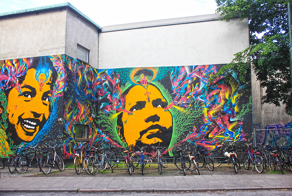 Street art in Malmo, Sweden, by Stink Fish