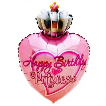Happy Birthday Princess Mylar Balloon