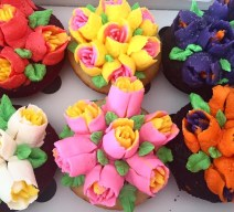Tulip Cupcake Bouquet