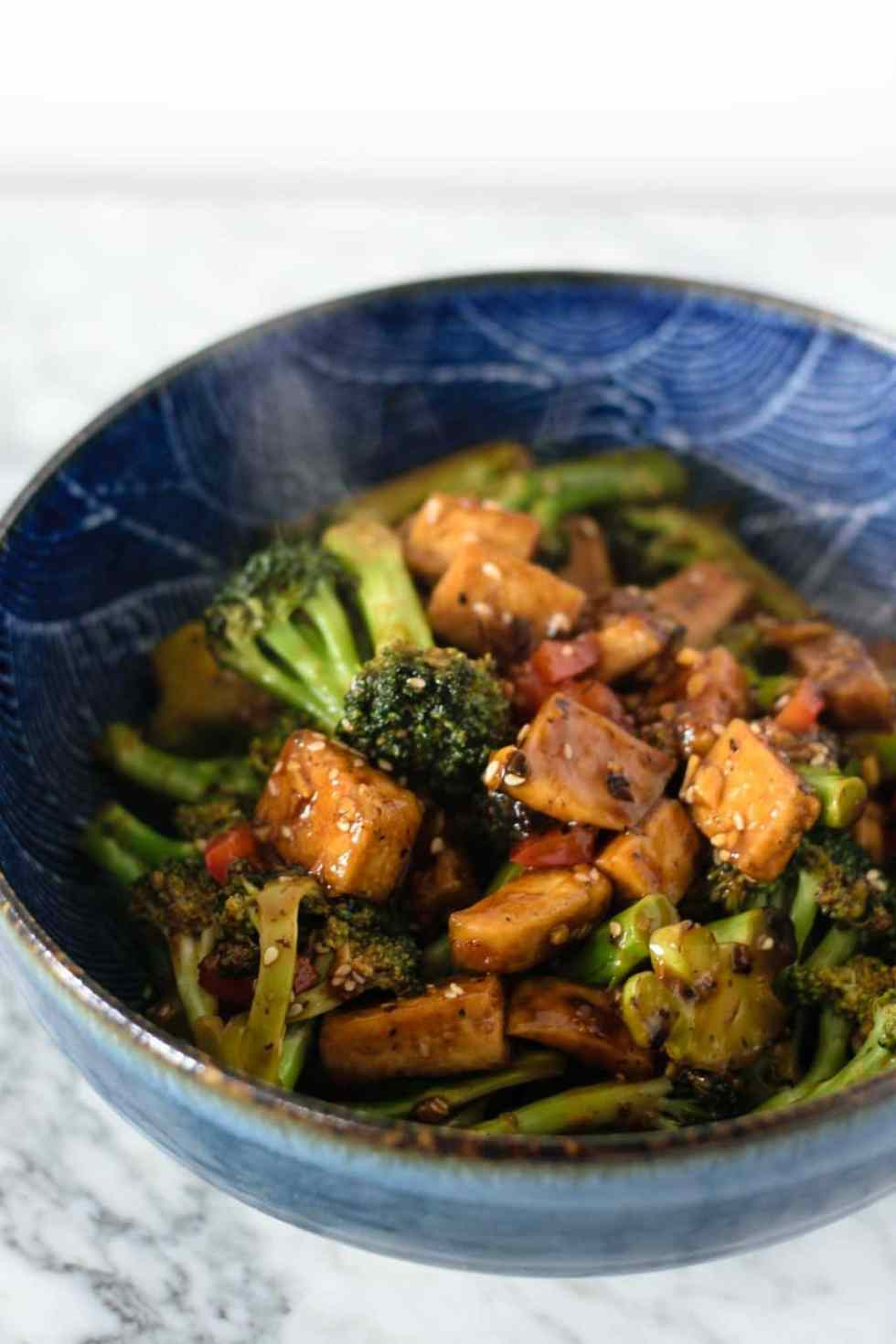 broccoli tofu black bean sauce