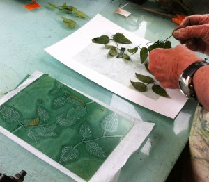 removing leaf from printing plate