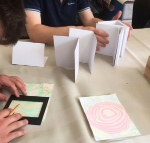 choosing paper marbling for cards