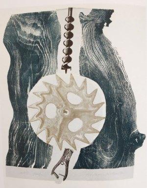 Michael Rothenstein; RIP, print using wood grain