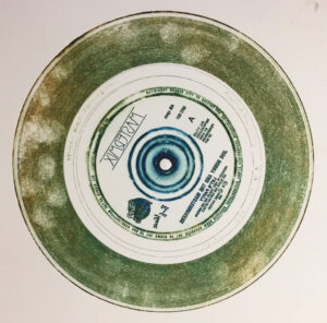 an intaglio print with added fingerprints