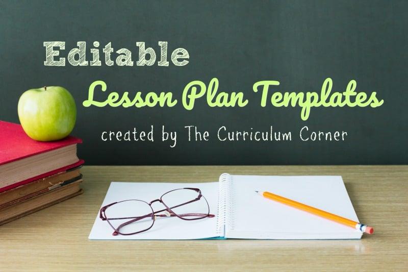Lesson Plan Templates The Curriculum Corner 123