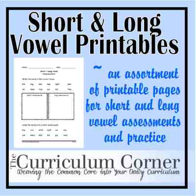 Short and Long Vowel Sound Printables
